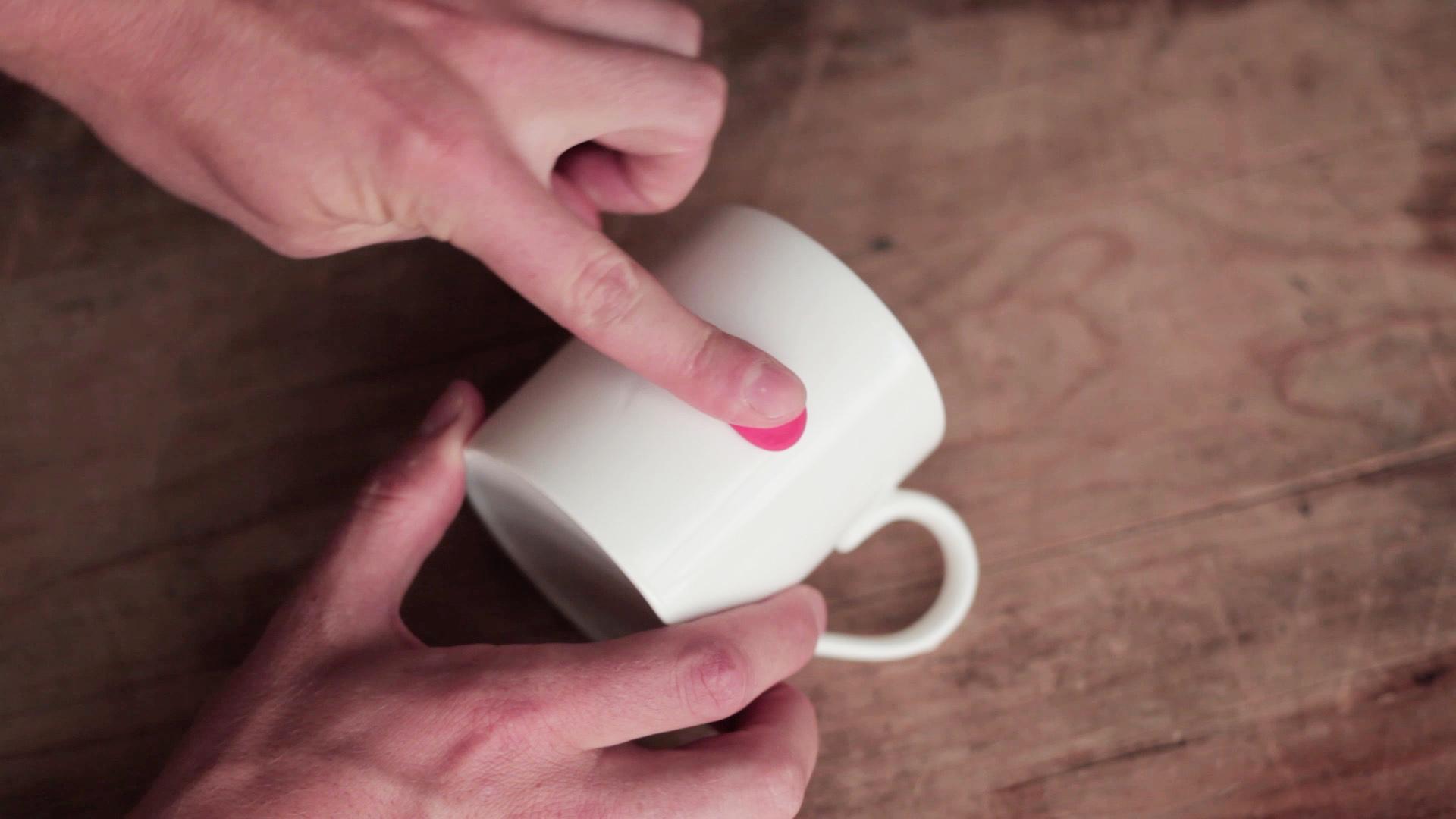 Sugru pressed onto mug