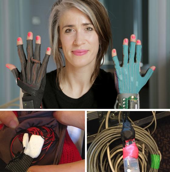 Imogen Heap using Sugru on her musical gloves