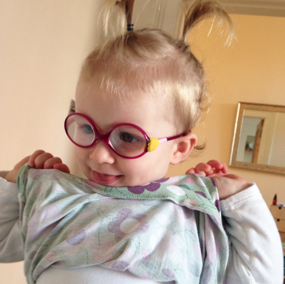 Child with glasses fixed with Sugru