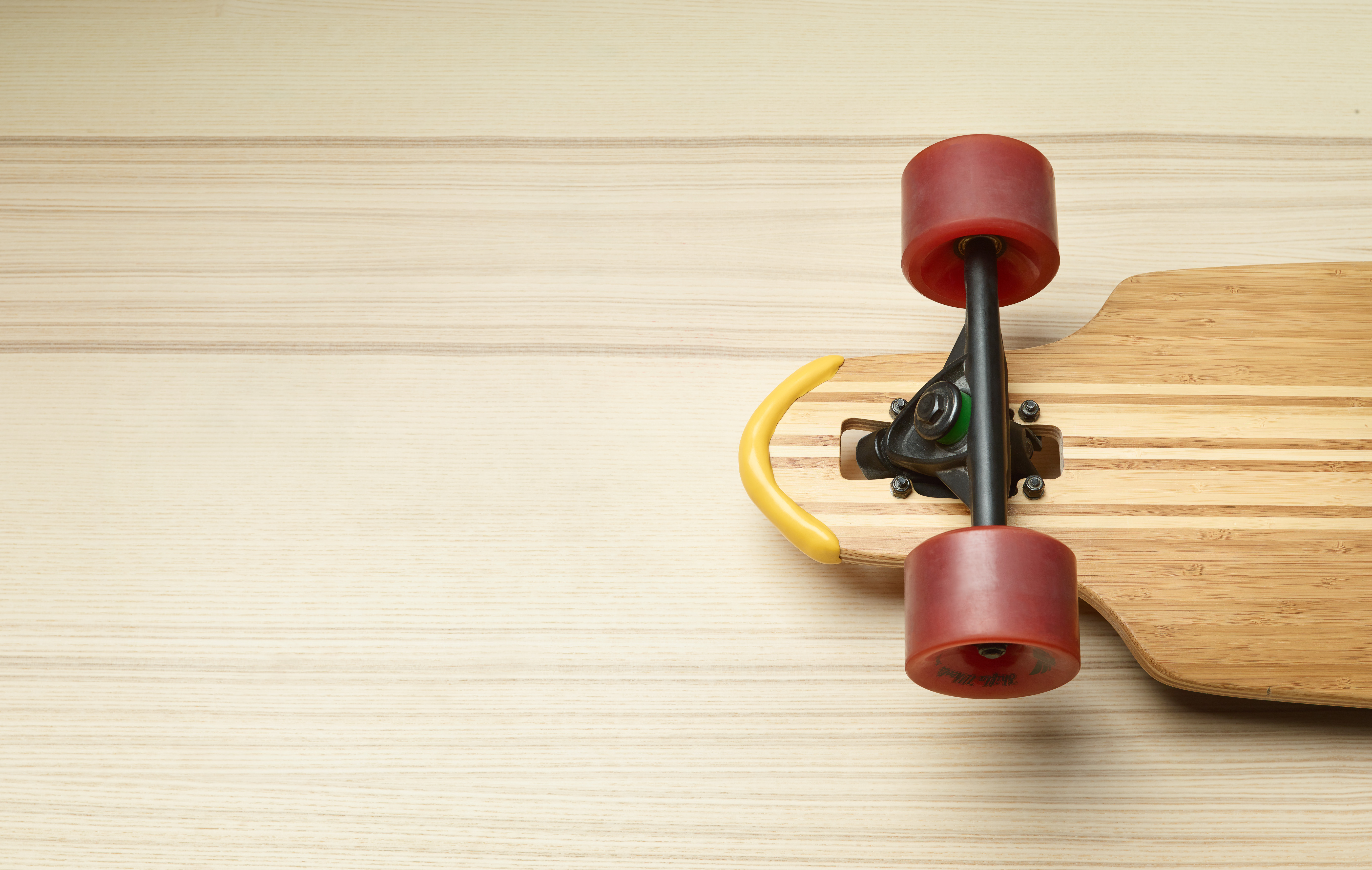 Longboard with Sugru bumper