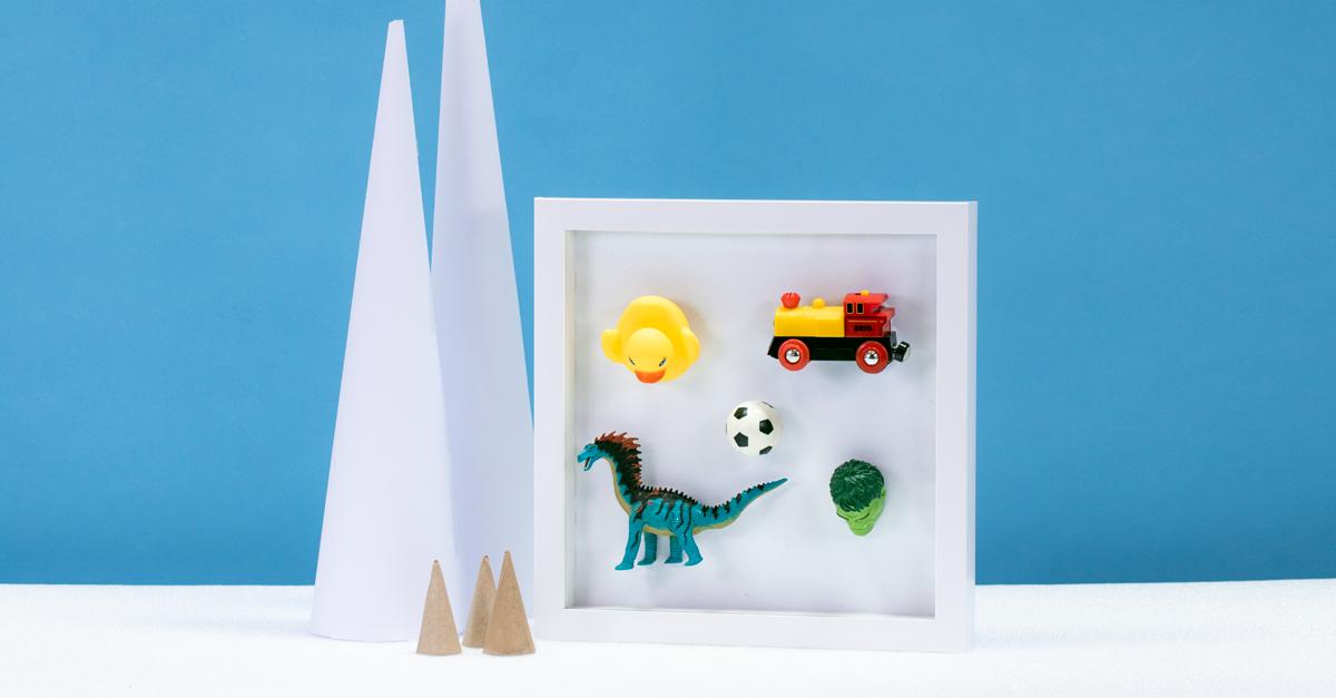 toys framed using Sugru