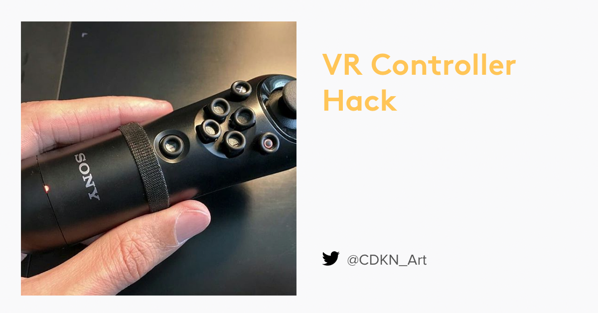 VR controller with Sugru grips