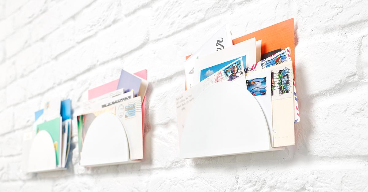 porte-lettres sur un mur