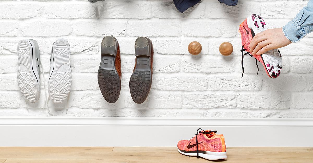 crochets à chaussures en poignée de porte