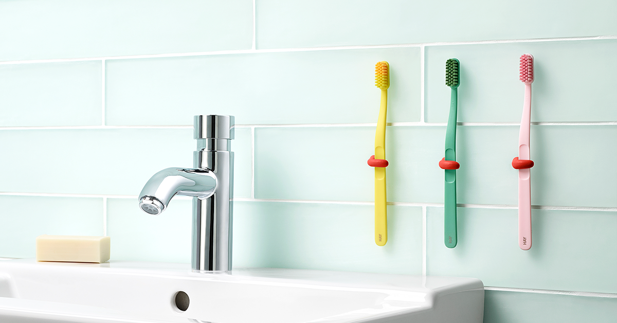 supports de brosse à dents en Sugru