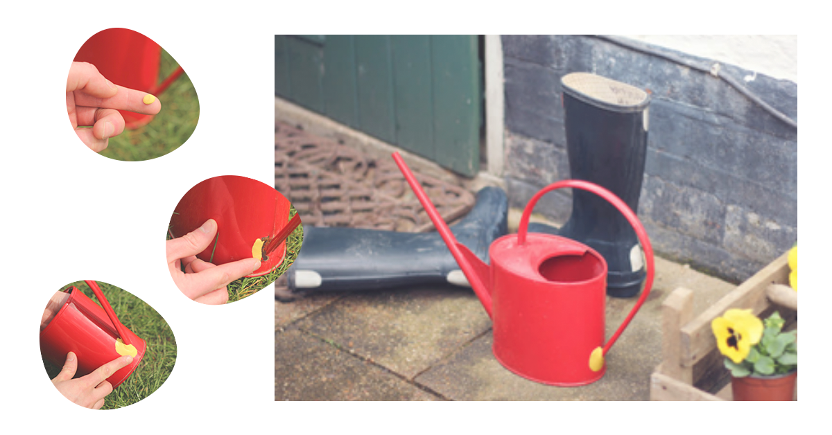 watering can fixed with Sugru