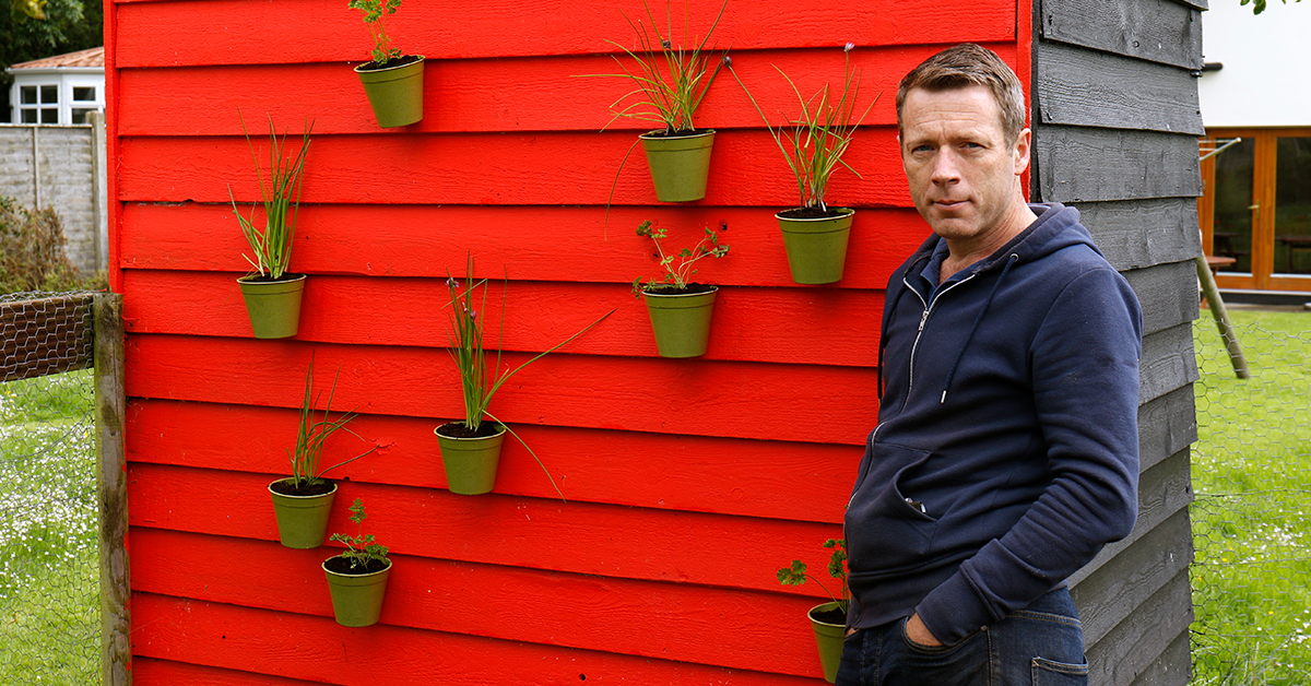 plant pots on a shed wall using Sugru