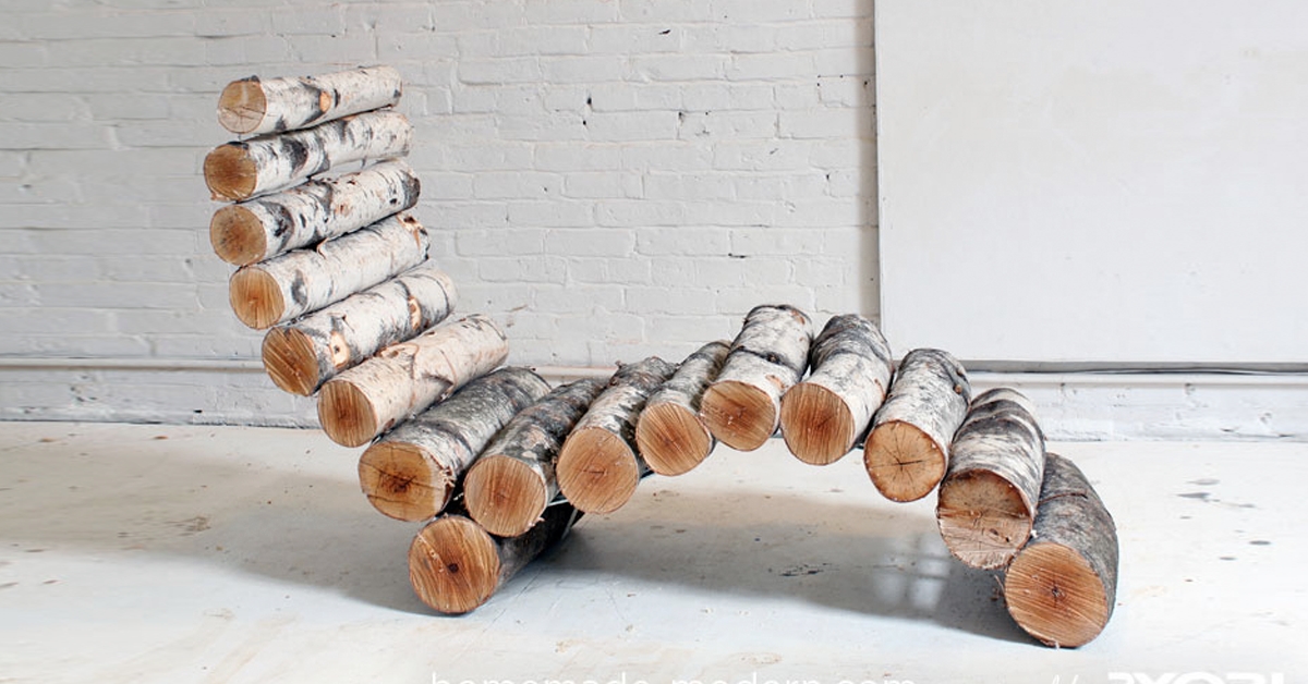 lounger made from logs