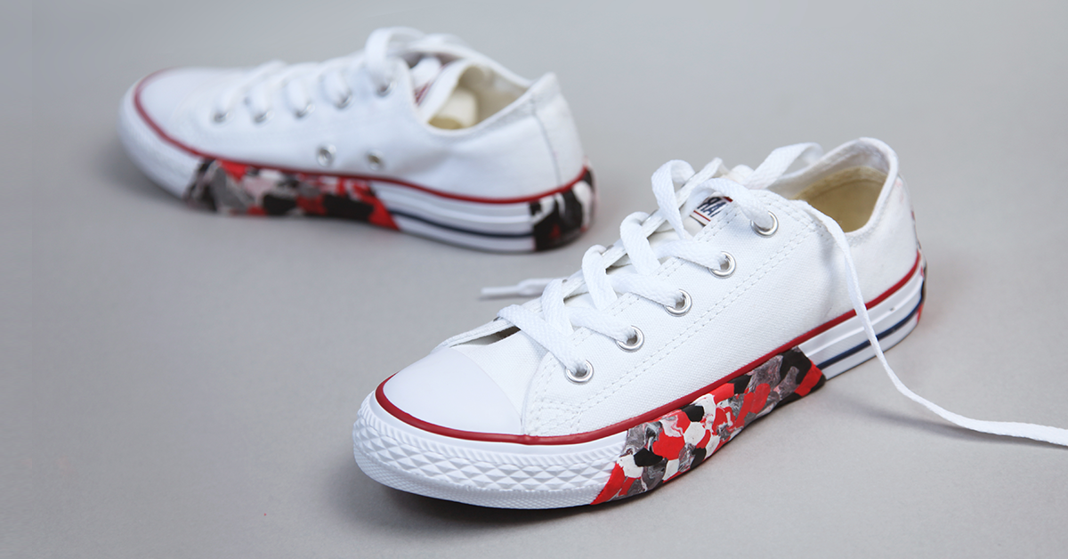 shoes customised with Sugru