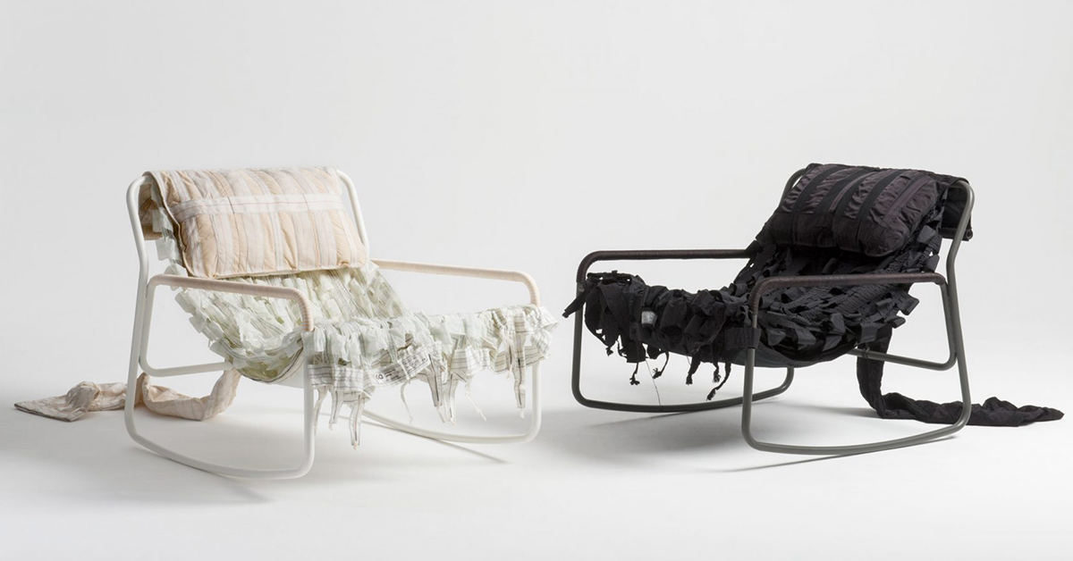 chair covers made from old parachutes