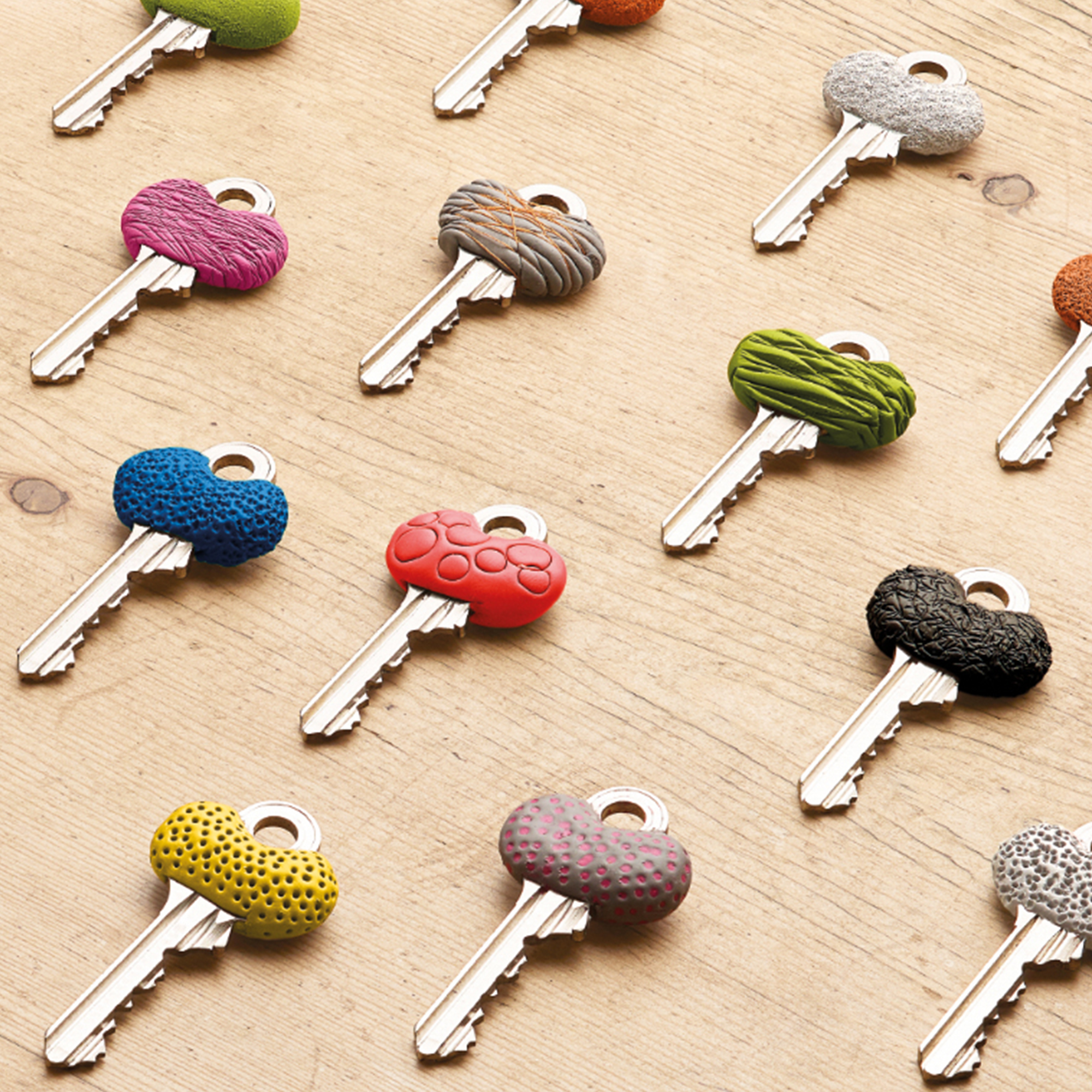 keys with different sugru designs