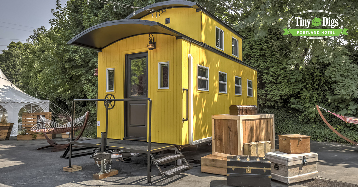 A tiny home at the Tiny Digs Hotel