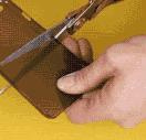 Phone case cut in half