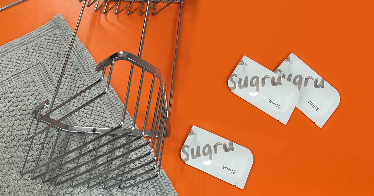 Sugru packs and shower caddy