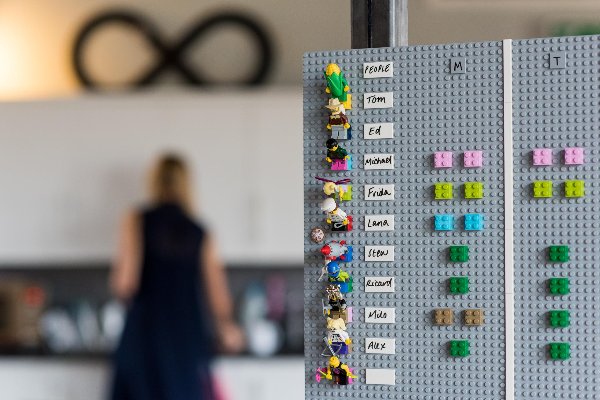 Lego organisation chart board