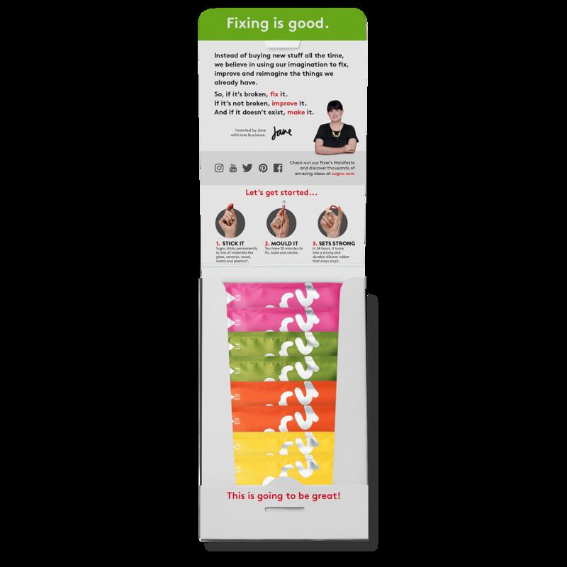 Family-safe Black 8-Pack Skin-friendly Formula Sugru Mouldable Glue