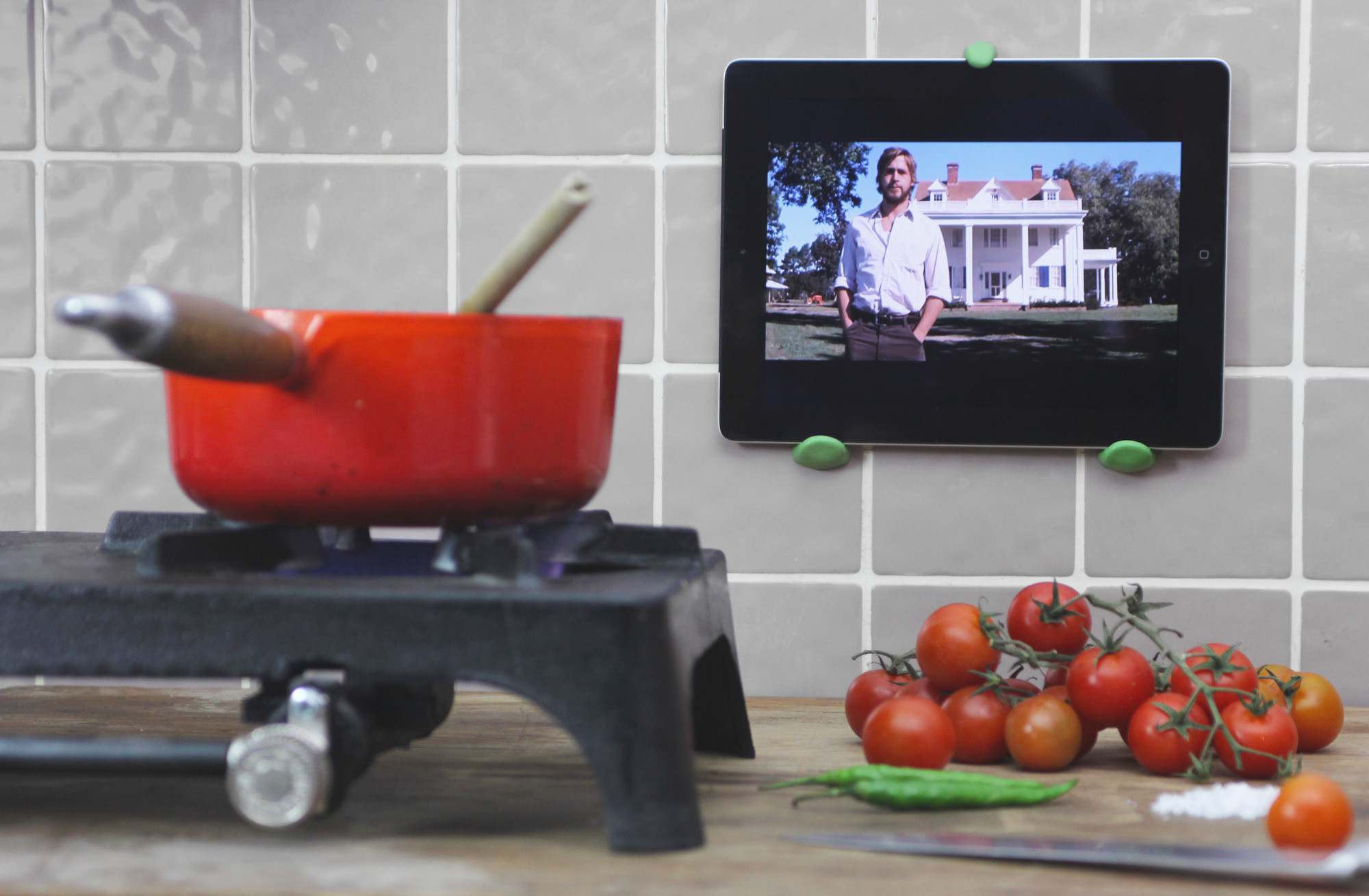 Create a Fantastic iPad Wall Mount to Fit Anywhere   Sugru on kitchen tablet mount, kitchen tablet stand, kitchen laptop holder, kitchen tablet case, kitchen tablet recipe,