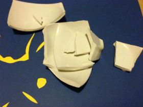 broken ceramic bowl