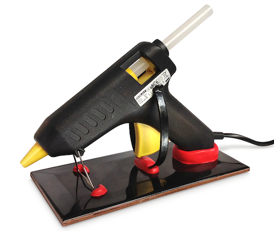 Sugru stand for glue gun