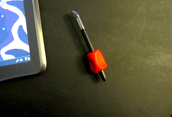 Sugru grip on tablet pen