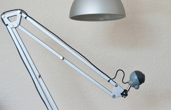 moveable webcam made from lamp arm