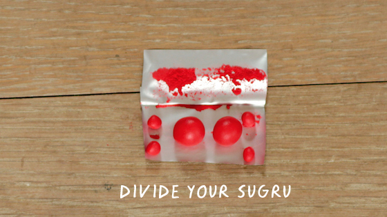 sugru divided into small pieces