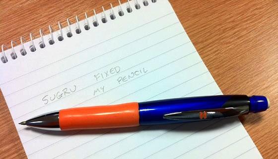 Sugru grip on pen