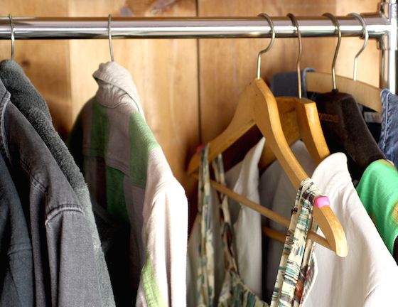 Sugru grips on clothes hanger