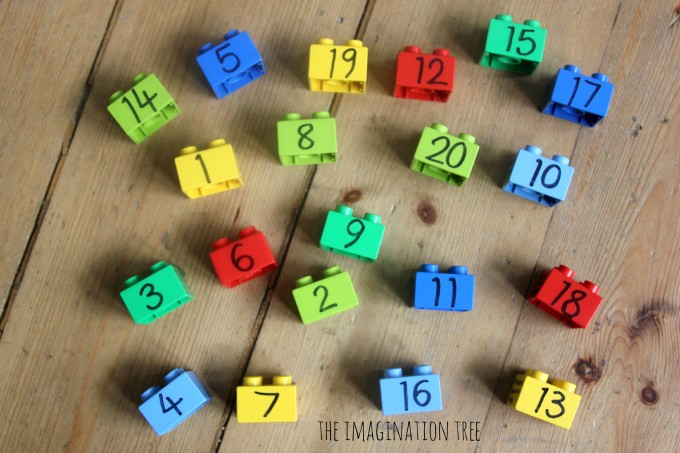 toy building blocks with numbers