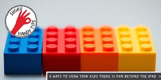 sugru handy tips logo with toy building bricks