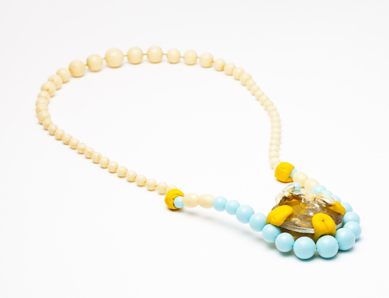 junk: rubbish to gold necklace with sugru and old jewellery made by nanna grønborg