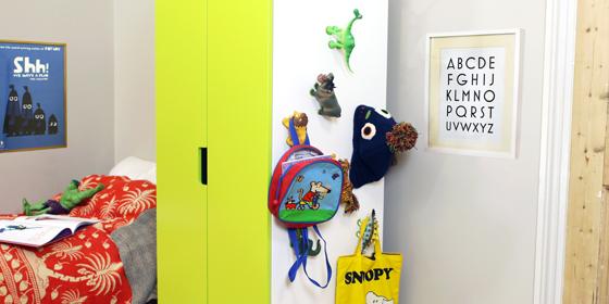 Hooks on wardrobe made of toys and Sugru