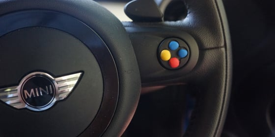 sugru on buttons on car steering wheel