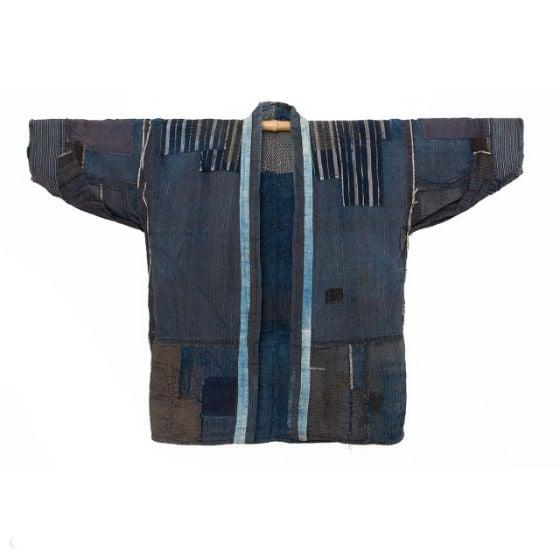 vêtement reprisé selon la méthode Boro